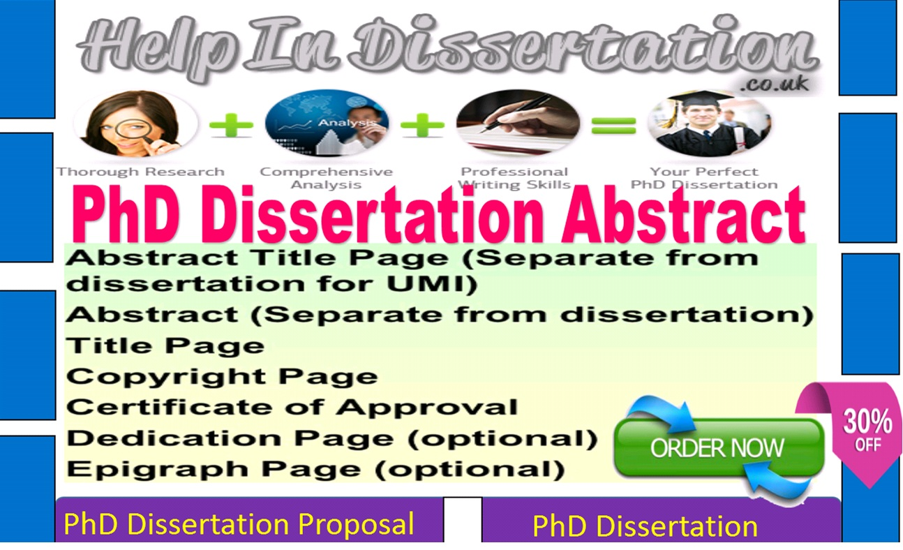 Dissertation abstract help