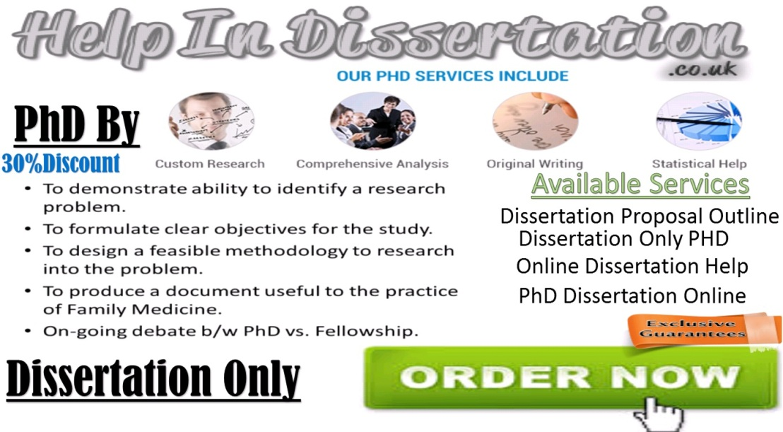 Dissertation Only Phd Online